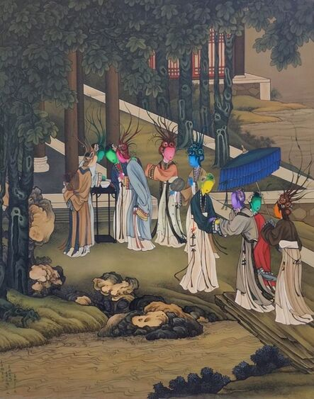 Gao Feng, 'Ancient Organisms Series- Painting of Court Ladies IIII'