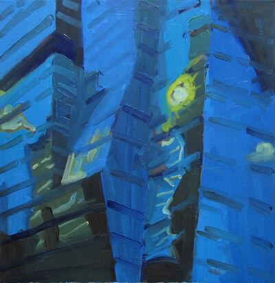 Dena Schutzer, 'Blue Buildings with Sun', 2021