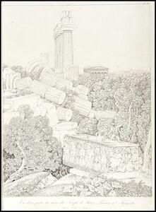 Louis-François Cassas, 'Vue dune partie des du temple de junon lacinia a agrigente', 1813