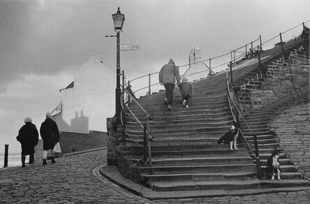 George Tice, 'Stairway to Whitby Abbey, Yorkshire', 1990