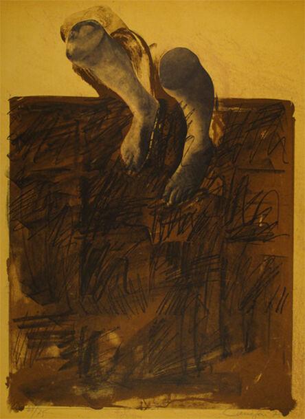 Rafael Canogar, ' El caminante', 1975