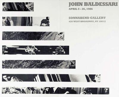 John Baldessari, 'John Baldessari 1986 exhibition poster (John Baldessari at Sonnabend 1986) ', 1986