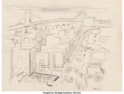 John Marin (1870-1953), 'Vicinity of Williamsburg Bridge'