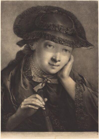Thomas Frye, 'Young Woman Holding a Fan', 1760