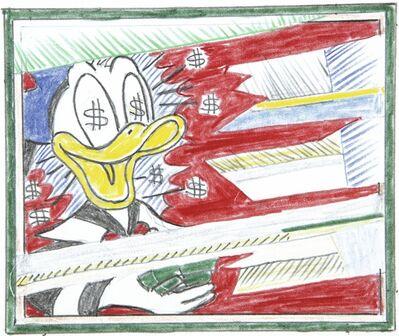 Roy Lichtenstein, 'Reflections: Portrait of a Duck (Study)', 1989