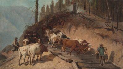 William Hahn, 'Logging in California', 1880