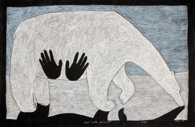 Ningeokuluk Teevee, 'Composition (Bear with Hand Prints)', 2013