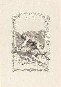 Adolf Schrödter, 'Peter Schlemihl Chasing His Shadow', 1836