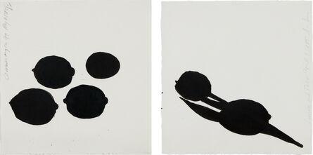 Donald Sultan, 'Lemon and Tulip; and Lemons and an Egg', 1985