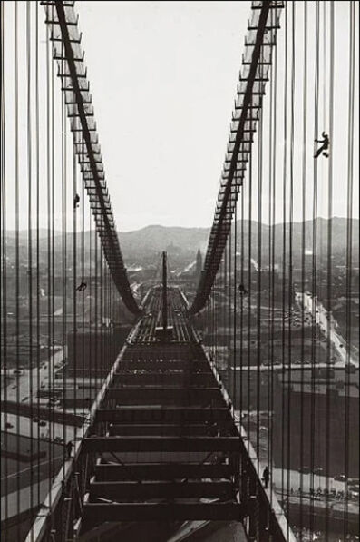 Peter Stackpole, 'Construction of the Bay Bridge', 1935
