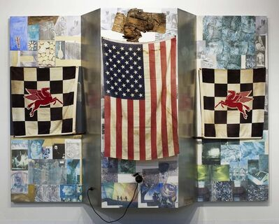 Robert Rauschenberg, 'Pegasus' First Visit to America in the Shade of the Flatiron Building (Kabal American Zephyr)', 1982