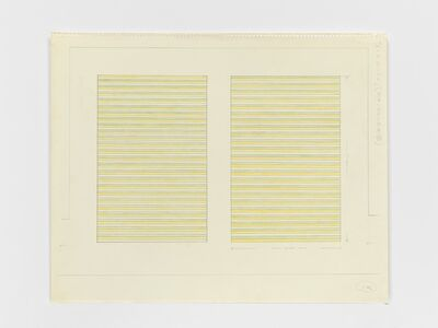 On Kawara, 'Paris-New York Drawing no. 144', 1964