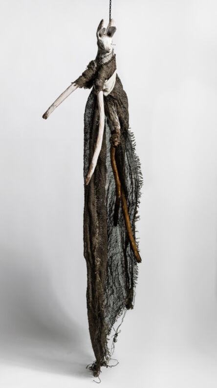 Elizabeth Jordan, 'Sculpture of hare suspended chain: 'Children 3'', 2020
