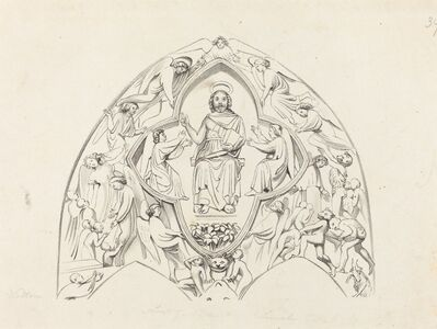 W. Walton after John Flaxman, 'Last Judgment, Lincoln Cathedral', published 1829