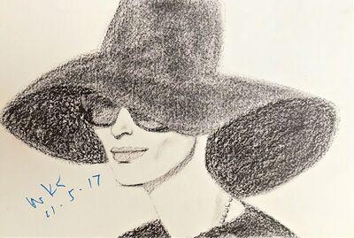 Alex Katz, 'Black Hat 2 (Signed)', 2016-7