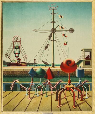 Edward Wadsworth, 'Signals (Greenwood W/C 43; Garton 531)', 1942