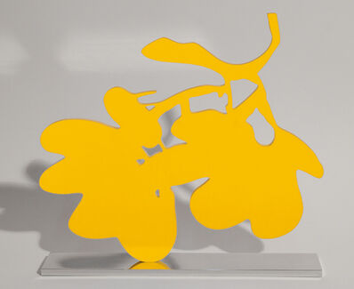 Donald Sultan, 'Yellow Lantern Flower', 2013