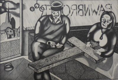"""Julien Alberts, '""""Profits for God""""', 1934"""