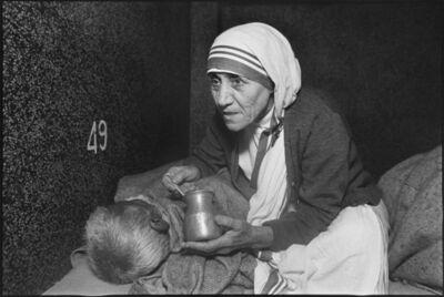 Mary Ellen Mark, 'Mother Teresa Tender Sick Man, Calcuta', 1980