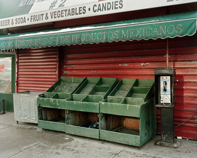 Will Steacy, 'Empty Vegetable Stand On Valentine's Day, Looking East from 3rd Ave & 110th, NYC', 2010
