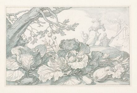 Abraham Bloemaert, 'Cabbages and Other Plants at the Base of a Tree', 1610-1630
