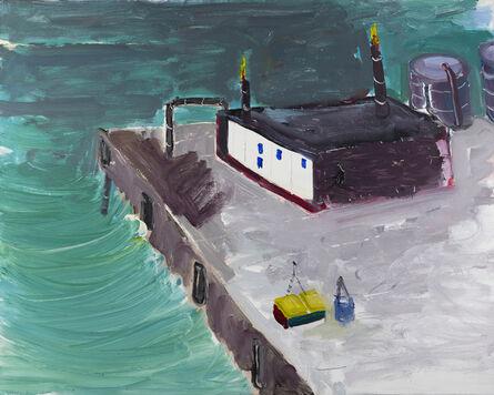 Gustas Jagminas, 'Oil Pump Near Lagoon', 2020
