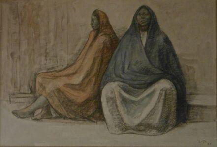 Francisco Zúñiga, 'Two SeatedWomen', 1962