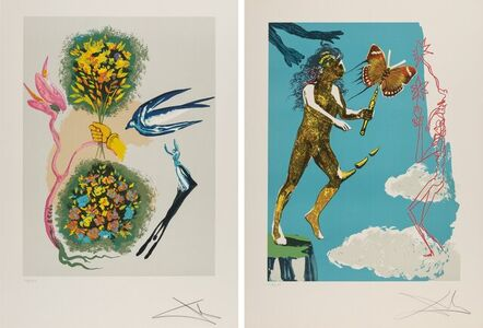 Salvador Dalí, 'Madam butterfly &The dream (Two Works)', 1978