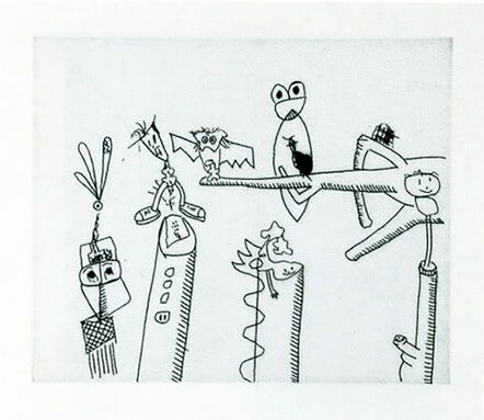 Keith Haring, 'Untitled (with Sean Kalish) D', 1989
