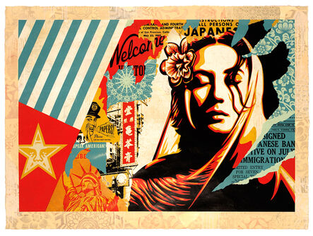 Shepard Fairey, 'Welcome Visitor ', 2018