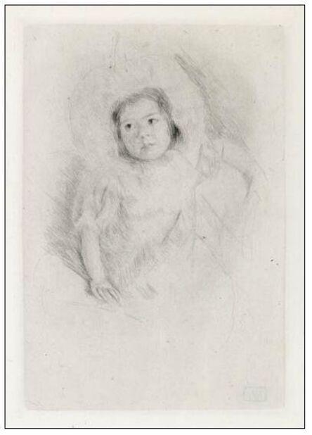Mary Cassatt, 'Margot Wearing a Bonnet, No. 1', 1902