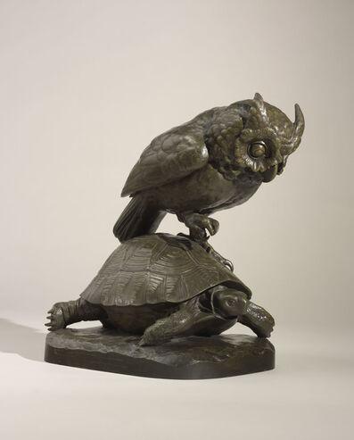 Auguste-Nicolas Cain, 'Owl and Tortoise', ca. 1867