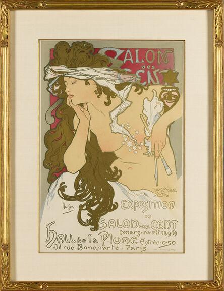 Alphonse Mucha, 'Salon des Cent', 1896