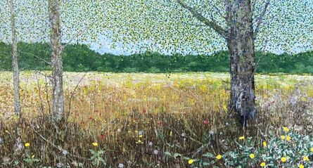 Christopher Charlebois, 'Field with Three Trees and Wild Flowers', 2020
