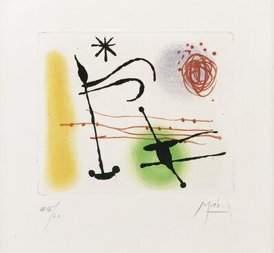 Joan Miró, 'ONE PLATE (FROM LA BAGUE D'AURORE SUITE)', 1957