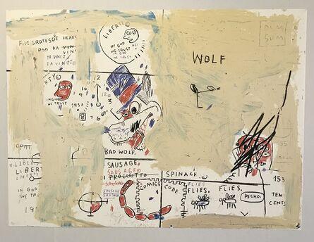 Jean-Michel Basquiat, 'Wolf Sausage', 1982-2019