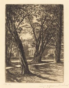 Francis Seymour Haden, 'Kensington Gardens (The Small Plate)', 1859