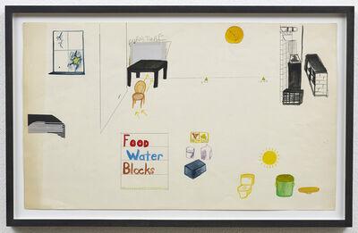 Michael Smith (American, b. 1951), 'Food, Water, Blocks', ca. 1982