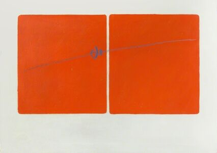 Angelo Verga, 'Due Rossi', 1967