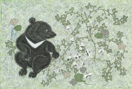 Chien-Chiang Hua, 'Back Garden No.6—Black Bear and Crane', 2019