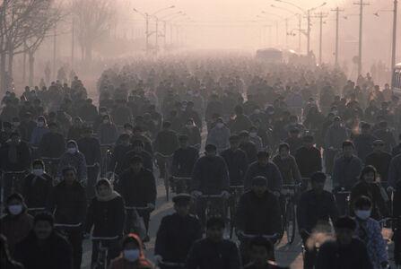Hiroji Kubota, 'From about 7:30 a.m., Gangtie Rd. Nei Mongol, Baotou, China', 1984