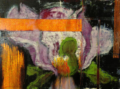 Aaron Fink, 'Magnolia (Orange Ground)', 2011
