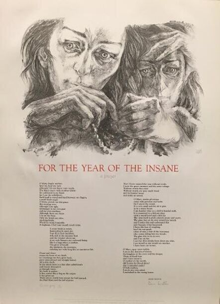 Barbara Swan, 'For the Year of the Insane - Broadside', 1967