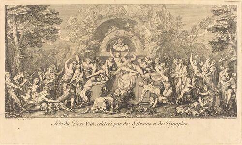 Claude Gillot, 'Feste du Dieu Pan, celebree par des Sylvains et des Nymphes (Feast of the God Pan Celebrated by Sylvans and Nymphs)'
