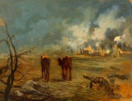 Giovanni Marchini, 'Dove è passata la guerra | Where the war has gone', 1944