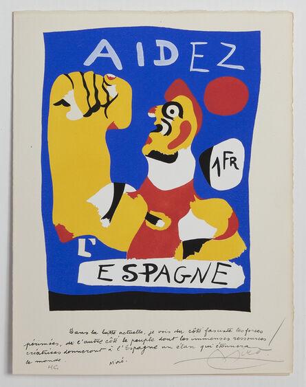 Joan Miró, 'Aidez L'Espagne (Help Spain)', 1937