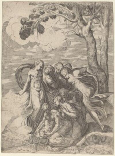 Battista Angolo del Moro after Andrea Schiavone, 'Moses Rescued from the Nile', 1540s