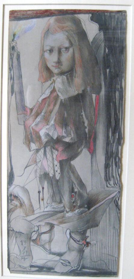 Horst Janssen, 'Knappe, L'Ecuyer (d'après Vélasquez)', 1974