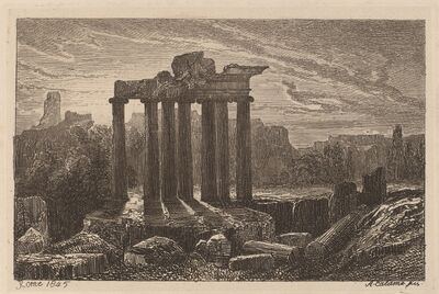 Alexandre Calame, 'Roman Ruins', 1845