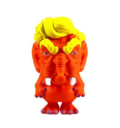 Ron English, ''Trunk: The Orange Elephant' Vinyl Art Figure', 2018